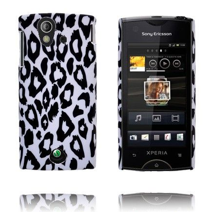 Safari Fashion (Hvit Leopard) Sony Ericsson Xperia Ray Deksel
