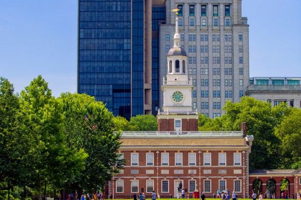 Independence Hall - Buy timed tickets to avoid like $1.50