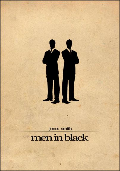 Minimalist Parchment Movie Poster Men in Black