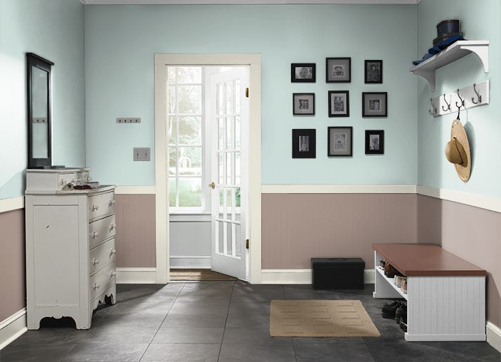 This is the project I created on Behr.com. I used these colors: TIDE POOLS(480E-2),COUNTRY CLUB(770B-5),DELICATE MIST(490E-2),OFF WHITE(1873),