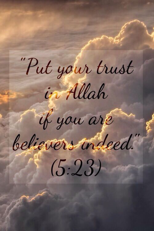 Ya Allah, I put all my faith and trust in You and You alone. Ameen.