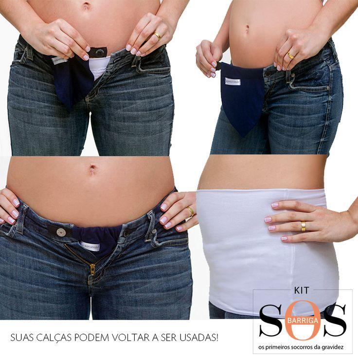 62eb04e9d Kit SOS Barriga - Roupas de Grávida Jeans Para Embarazadas