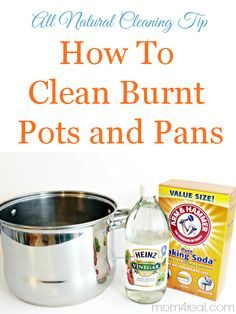 How to Clean Burn Pots and Pans the Natural Way