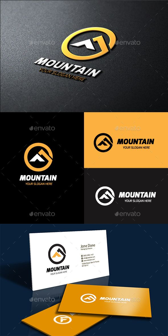 Mountain, Logo Description: The logo is Easy to edit to your own company name.The logo is designed in vector for highly resizable and printing. The Logo Pack includes. File format AI CC,EPS CC,EPS 10, AI Created Outlines. 100 vector (re-sizable). Color mode: CMYK. 300 PPI