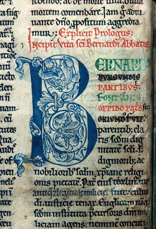 Bibliothèque municipale de Dijon - ms. 0659, f. 003v Recueil / Initiale de couleur ornée « cliché CNRS - IRHT »