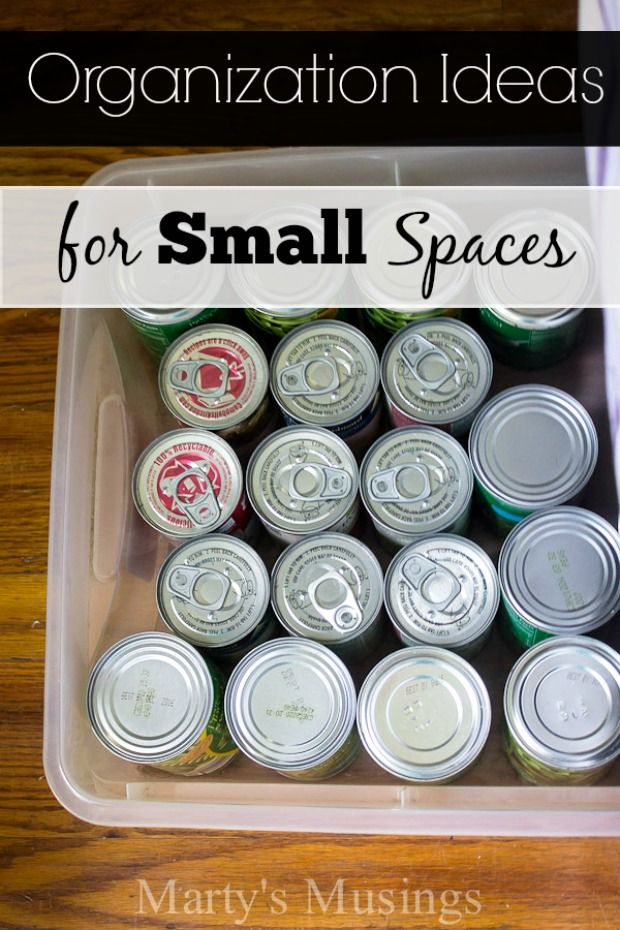 Marty's Musings shares smart organization ideas for small spaces and 5 ways to make the best of your space by using clever and inexpensive storage options. These practical tips will inspire you to create a beautiful AND organized home with just a few easily doable and inexpensive storage solutions.