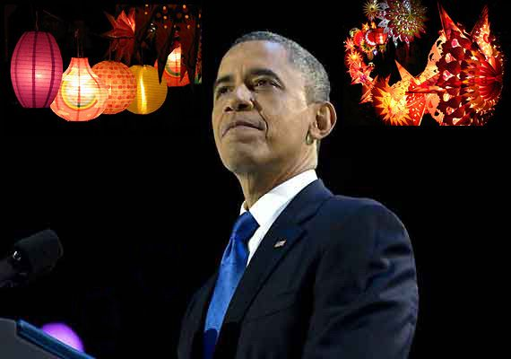 US President Obama wishes Indians 'Happy Diwali and Saal Mubarak' (see celebrations in pics)