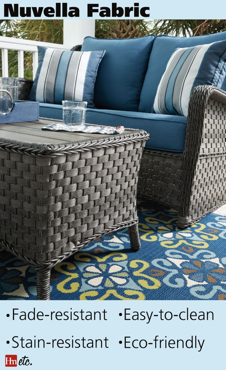 We Ve Got Your Guide To The Best Patio Furniture Fabrics Nuvella Is A Fabric Found On Ashley Products