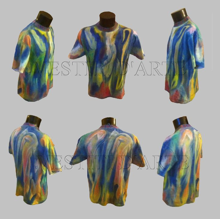 HAND PAINTED T SHIRT mens clothes plus size t shirt hand painted clothes artistic plus size clothes painted art wearable art tshirt for gift by Vestitidarte on Etsy