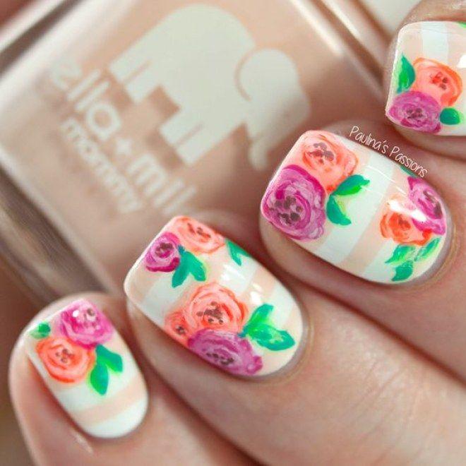 Diseños de flores para tus uñas, para llevar siempre contigo la primavera #manicura #uñas #flores #nailart #flower