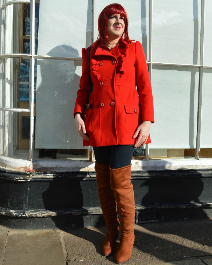 https://flic.kr/p/242rFQ9 | Red Coat and Overknee Boots | Had an enjoyable afternoon looking around the local sci-fi convention along with some friends who were in costume as Star Trek DS9 people. I wore my red coat with my brown overknees from Long Tall Sally. Someone thought I was cosplaying as an anime character but I have no idea who they meant!  Coat: Primark Jeans: Primark Boots: Long Tall Sally   Blog | Youtube
