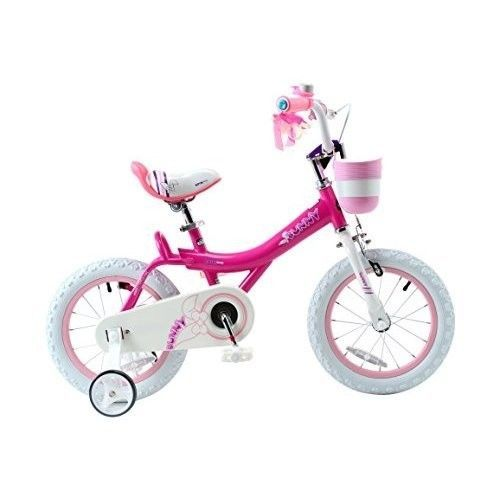 Girl's Bike Pink & White Basket Training Wheels Gifts For Girls Bicycles 18 inch #RoyalBaby