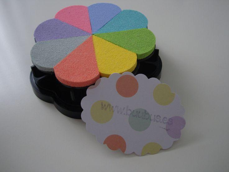Mis tintas de colores con la tarjeta