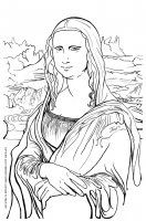 display image mona lisa coloring page - Mona Lisa Coloring Page Printable
