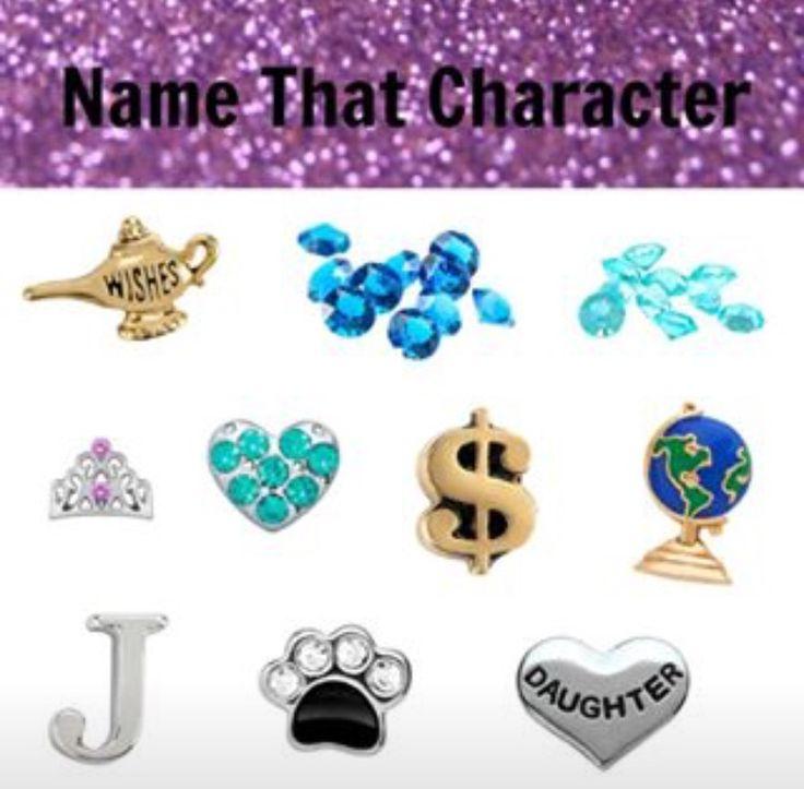 Origami Owl Name the Disney Character- Jasmine