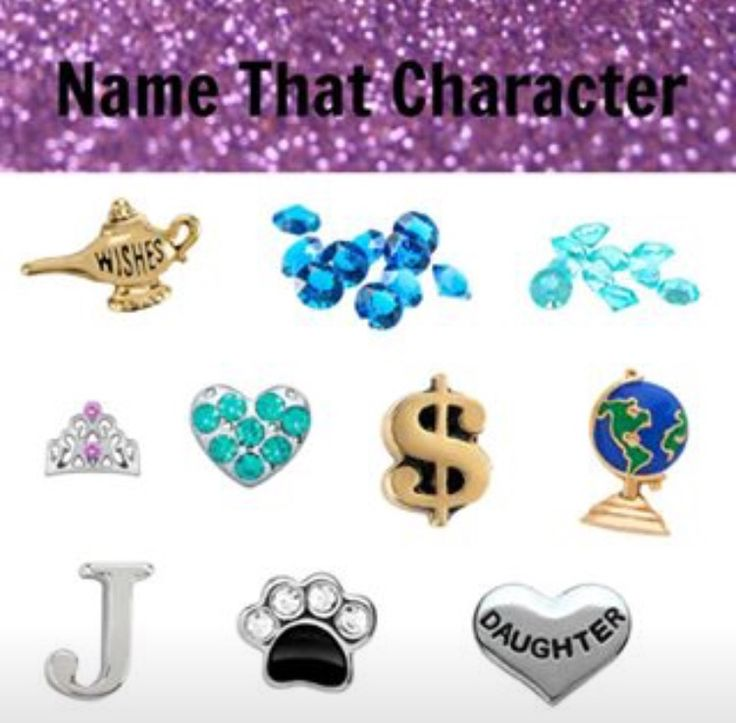 Origami Owl Name the Disney Character- Jasmine