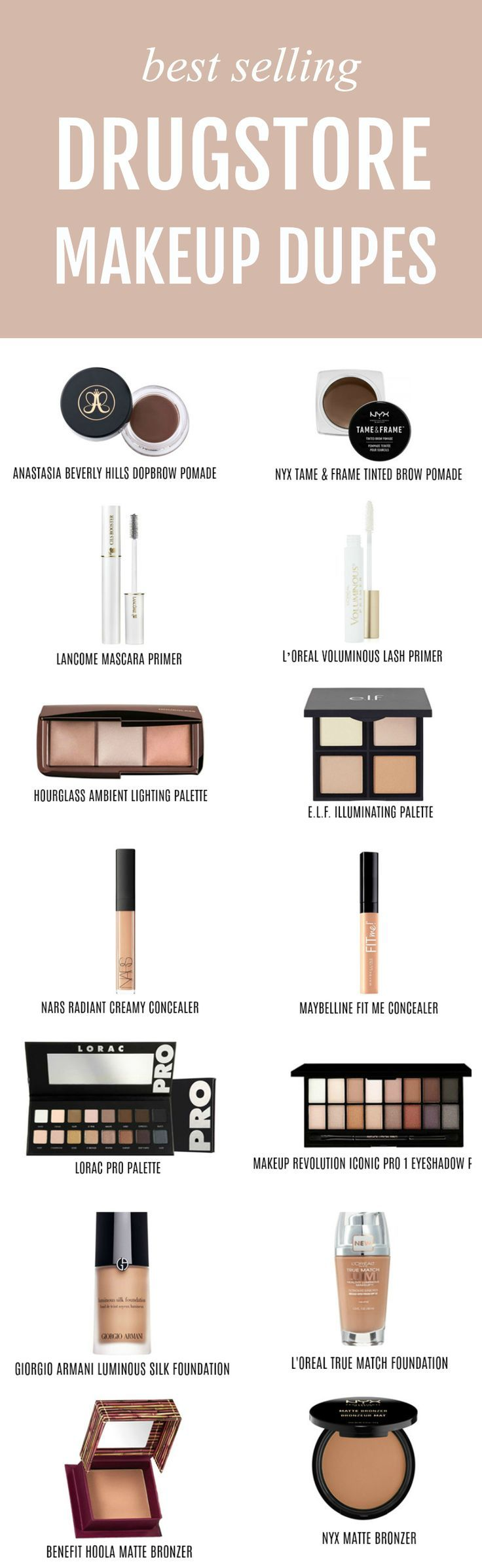 I need every single dupe!   Beauty blogger Michelle Kehoe of Mash Elle shares the best affordable drugstore makeup dupes of some of your favorite high end makeup products! Discover dupes for Urban Decay, Hourglass, Too Faced, Lnacome, MAC, Laura Mercier, Anastasia Beverly Hills, Estee Lauder, NARS, YSL, Lorac, Giorgio Armani, Benefit, Chanel and more! Plus, discover my amazing money saving hack with @topcashbackUSA #ad #drugstoremakeup #makeupdupes #makeup #affordablemakeup