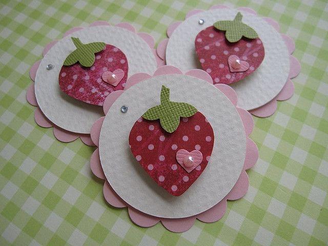 Pink Strawberry Embellishments