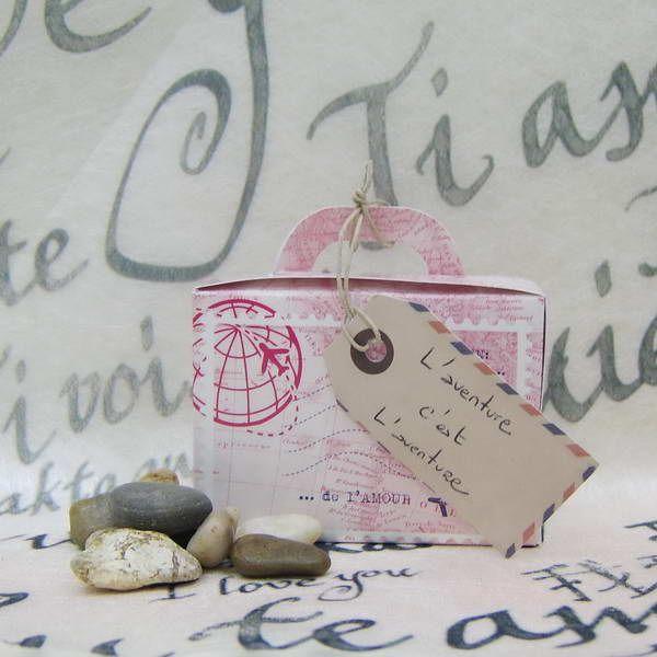 Kit Dragées Mariage escapade lointaine - Thème voyage de noce et Dragées