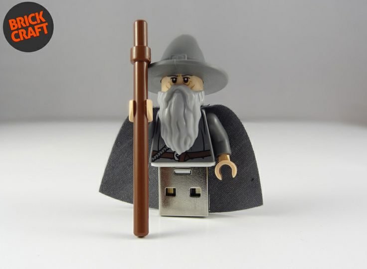 Gandalf LOTR Lego® Pendrive 8GB USB w BRICK CRAFT  #lego #pendrive #flash #minifigures