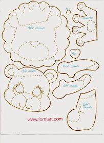Patrones de Leoncito con corona en Fomi | Fomiart