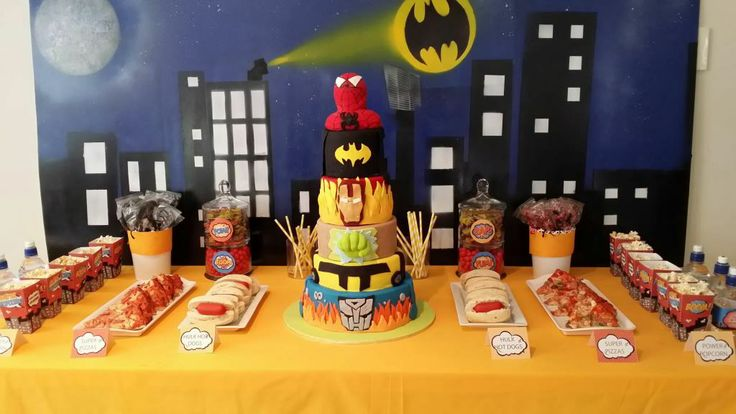 Superhero Themed food buffet