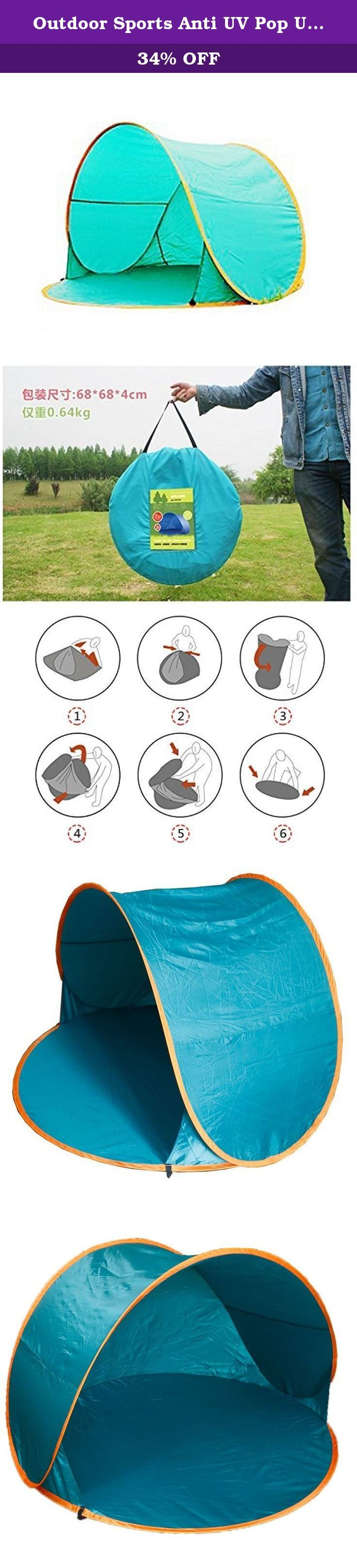 Outdoor Sports Anti UV Pop Up Tent Sun-shade Folding Beach Tent Beach Sun Shelter. Pop-Up Tent provides you with camping in an instant,Family camping has never been this easy An excellent outdoor must have equipment to carry to outdoor activities, specially for the family with baby and children Easy carrying with the supplied bag Suitable for two adults or one adult and several children.