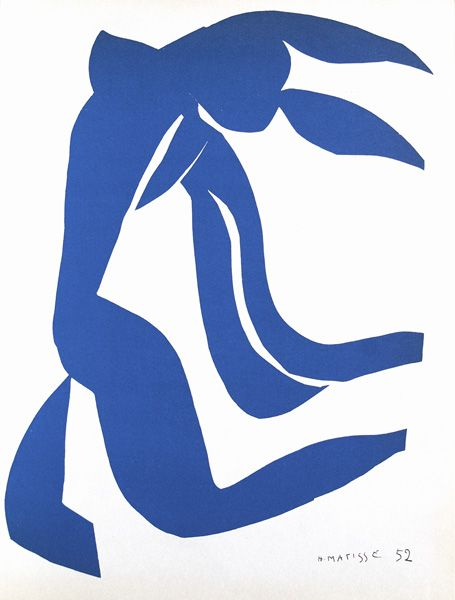 Danseuse BLeue - Matisse - the strong sense of negative space in this picture makes it so effective.