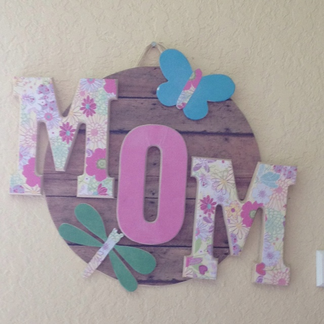 Josh, Chase & Ryan's mothers day craft.