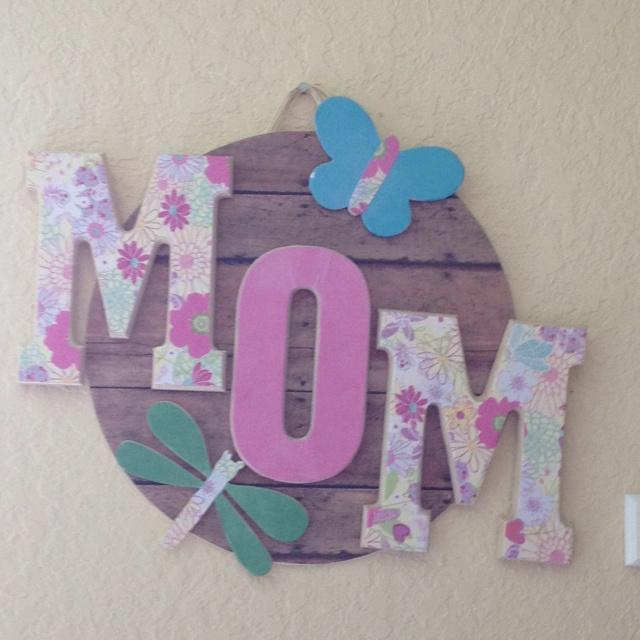 Josh, Chase & Ryan's mothers day craft.