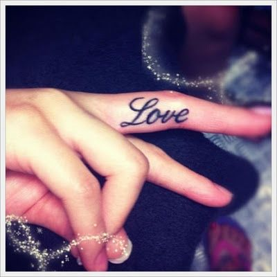 My brother wants a one love tattoo on the finger a must get fo sho