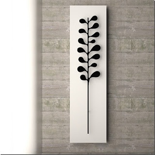 Fab Camelia designer radiator by K8, which can be seen at The Radiator and Bathroom Gallery