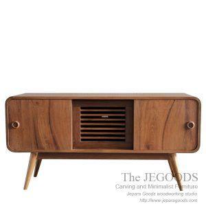 Buffet Radio style by The JeGoods Woodworking Studio. Model buffet gaya retro scandinavia teak furniture Jepara. Kontraktor mebel Jepara berkualitas ekspor.