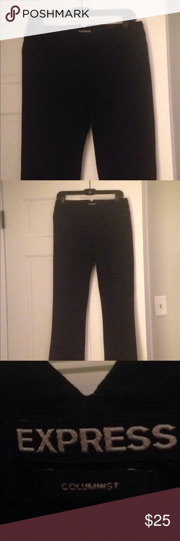 Express Columnist Pants Black size 6 Gently worn Express Columnist pants Express Pants Boot Cut & Flare