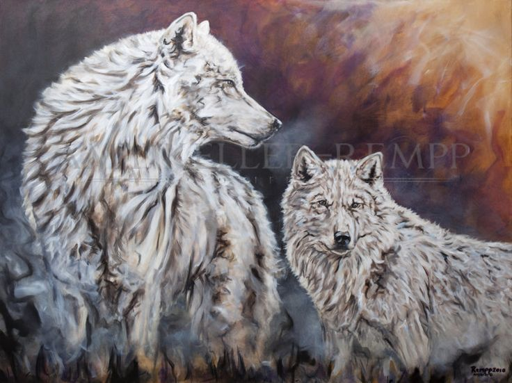 "Amy Keller-Rempp Art. ""Arctic Pride"", 36"" by 48"", acrylic on canvas. Original sold, available and very popular in giclee prints and fine art cards."