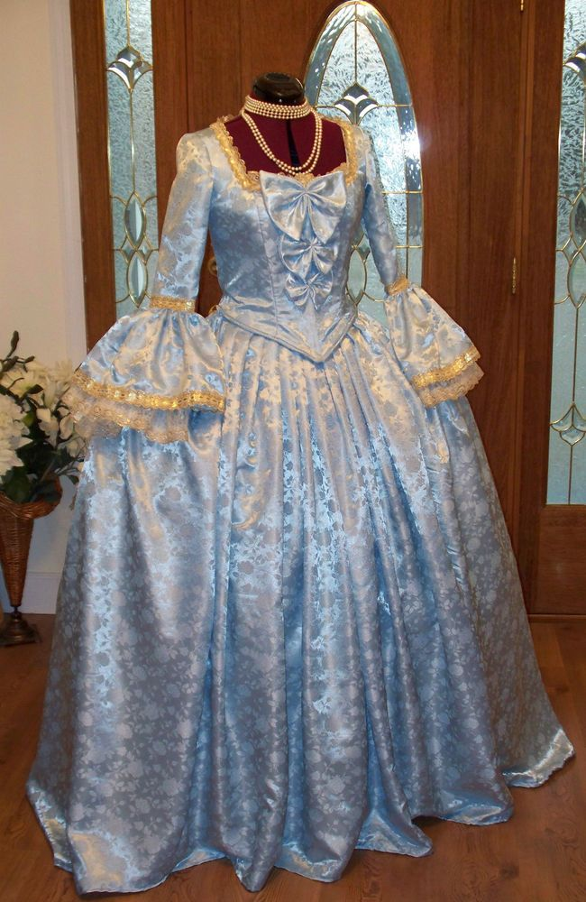 Marie Antoinette Colonial 18th Century Waltz Masquerade Victorian Dress Costume  #Handmade #Dress