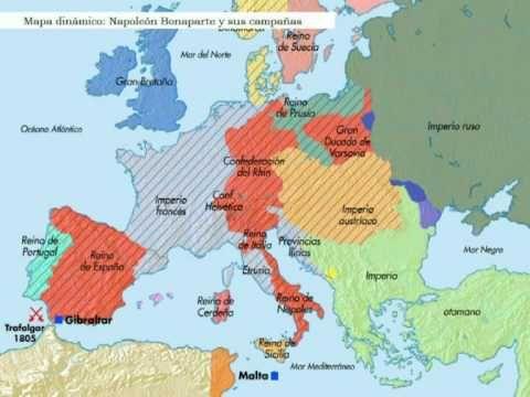 Una nueva geografía política y económica: Las guerras napoleónicas.  La invasión francesa a España. Las independencias americanas. El  Congreso de Viena y la Santa Alianza. Las revoluciones de 1830 y  1848. El nuevo colonialismo en África y Asia.