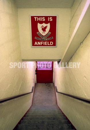 14/4/1990 The tunnel at Anfield with the sign This is Anfield English Football League Division One<br />Liverpool v Nottingham Forest<br /><br />Photo: Offside / Mark Leech