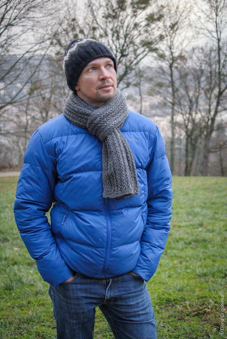 """Echarpe homme,100% laine """"Regina"""", Adriafil, tricoté main : Echarpes par len-art"""