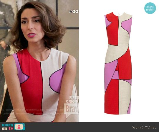 Delia's pink and red colorblock dress on Girlfriends Guide to Divorce.  Outfit Details: https://wornontv.net/64882/ #GG2D