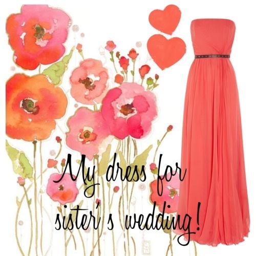 My sister wedding' s dress!