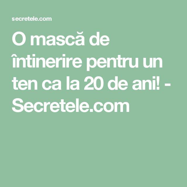 O mască de întinerire pentru un ten ca la 20 de ani! - Secretele.com