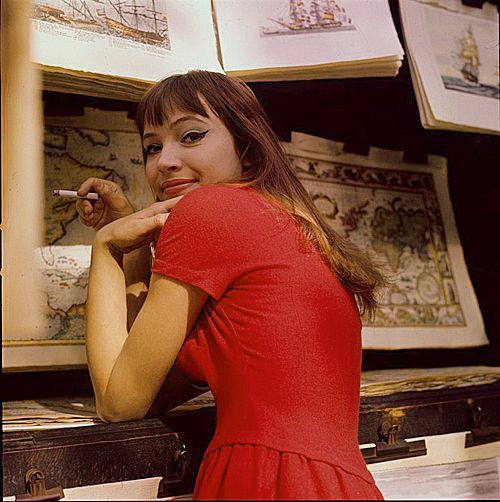 Anna Karina, 1960s.                                                                                                                                                                                 More