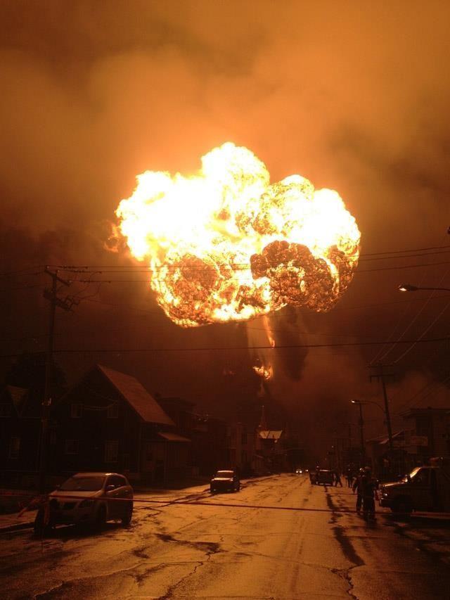 Lac Mégantic explosion - 06/07/2013