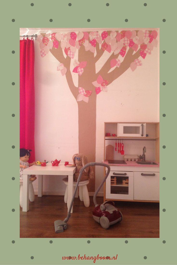 #bloemenboom roze van #behangboom. Kijk op de site voor andere stammen en of kleuren.