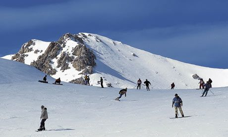 Skiing near Rome