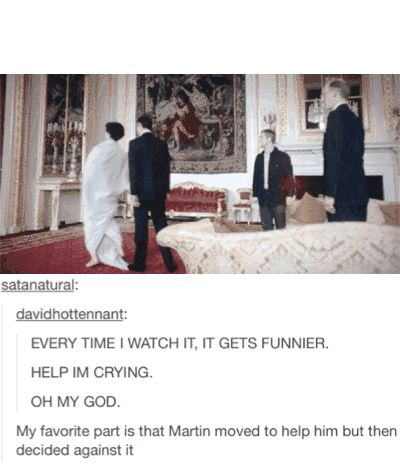 It gets funny watching Martin and mark bow to each other
