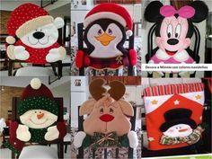 kit imprimible patrones bellos forros de sillas navideños