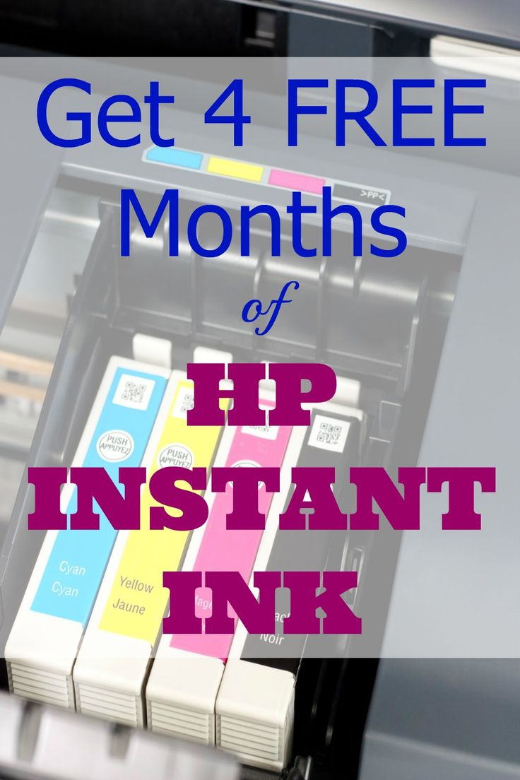 Get 4 Free Months of HP Instant Ink Are you spending too much money on ink like I was? Check out how you can get four free months of HP Instant Ink Service!