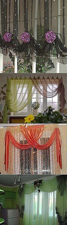 ЯРКИЕ ШТОРЫ для КУХНИ - всё внимание на окно !!!